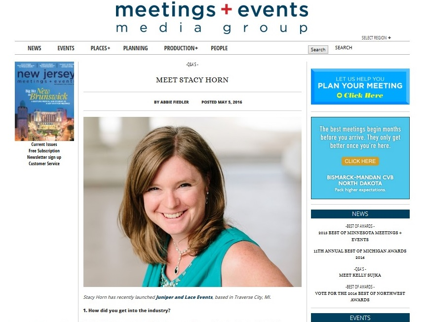 Meetings + Events feature